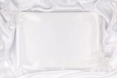 Tekstylny ślubny tło Obrazy Royalty Free