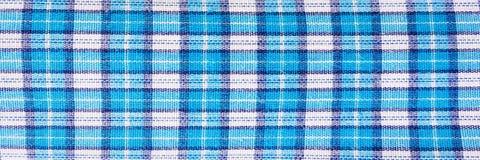 Tekstylny błękitny pudełko, tkaniny szkockiej kraty błękitna pokrywa Błękitny klasyczny w kratkę wzór błękitny w kratkę tkaniny z Obraz Royalty Free