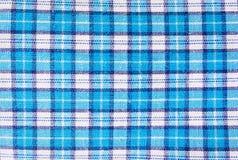 Tekstylny błękitny pudełko, tkaniny szkockiej kraty błękitna pokrywa Błękitny klasyczny w kratkę wzór błękitny w kratkę tkaniny z Zdjęcia Stock