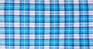 Tekstylny błękitny pudełko, tkaniny szkockiej kraty błękitna pokrywa Błękitny klasyczny w kratkę wzór błękitny w kratkę tkaniny z Obraz Stock