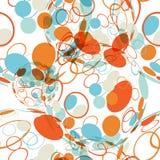 Tekstylny bezszwowy wzór piłki z tekstura okręgami Obraz Royalty Free