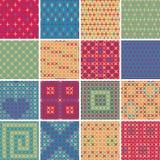 Tekstylny bezszwowy wzór USTAWIA Żadny 5 Obrazy Stock