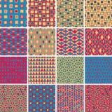 Tekstylny bezszwowy wzór USTAWIA Żadny 7 Obrazy Stock