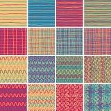 Tekstylny bezszwowy wzór USTAWIA Żadny 1 Fotografia Stock