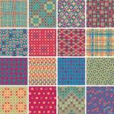 Tekstylny bezszwowy wzór USTAWIA Żadny 10 Zdjęcia Stock