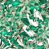 Tekstylny bezszwowy wzór zieleni abstrakcjonistyczni wybuchy ilustracja wektor