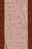 Tekstylny brezent, tkanina przemysł, umbry kanwa, bawełniany materiał, abstrakcjonistyczny tło Fotografia Royalty Free