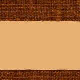 Tekstylny brezent, tkanina styl, brunatnożóła kanwa, dębny materiał, naturalny tło Zdjęcia Stock