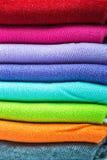 Tekstylny kolorowy skarpety tło Obraz Stock