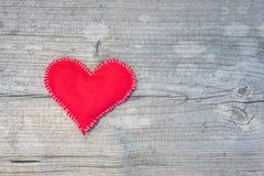 Tekstylny serce Fotografia Royalty Free