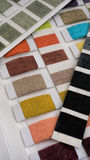 Tekstylny swatch kolor Zdjęcia Royalty Free