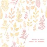 Tekstylny textured spadków liści ramy kąta wzór Zdjęcie Stock