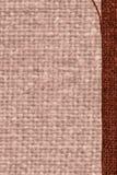 Tekstylny wątek, tkaniny przestrzeń, zrudziała kanwa, jutesack materiał, płaski tło Fotografia Stock