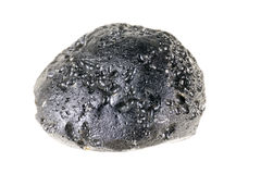 Tektyt, beautiful stone or meteorite mineral isolated on a white background Stock Photography