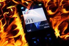 Teléfono 911 Imágenes de archivo libres de regalías