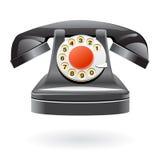 Teléfono aislado de la vendimia Imagen de archivo libre de regalías