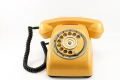 Teléfono amarillo del vintage Imagenes de archivo