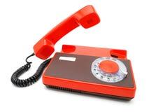 Teléfono anaranjado Fotografía de archivo libre de regalías