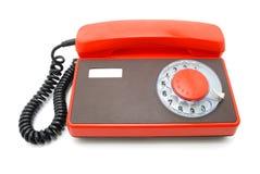 Teléfono anaranjado Fotos de archivo libres de regalías