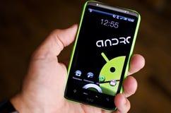 Teléfono androide fotografía de archivo libre de regalías