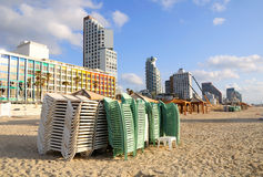 Teléfono Aviv Beach Imagen de archivo