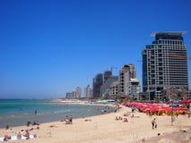 Teléfono Aviv Beach Foto de archivo libre de regalías