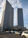 Teléfono Aviv Buildings del centro de Azrieli Fotos de archivo libres de regalías