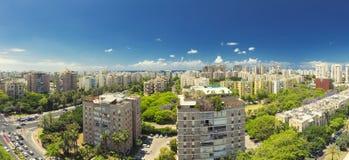 Teléfono Aviv Cityscape - Ramat Aviv Skyline Fotos de archivo libres de regalías