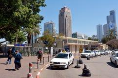 Teléfono Aviv Savidor Central Railway Station Imágenes de archivo libres de regalías