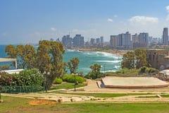 Teléfono Aviv Skyline de Jaffa Imagen de archivo libre de regalías