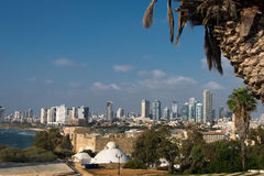 Teléfono Aviv Skyline de Jaffa Fotografía de archivo libre de regalías