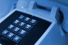Teléfono azul Imágenes de archivo libres de regalías