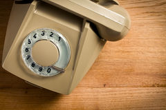 Teléfono beige viejo Imagen de archivo