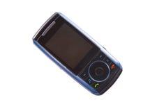 Teléfono celular azul Imágenes de archivo libres de regalías
