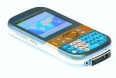 Teléfono celular azul fotos de archivo