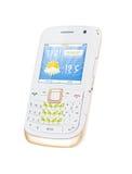 Teléfono celular blanco Foto de archivo