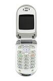 Teléfono celular de la cubierta, aislado Fotografía de archivo
