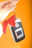 Teléfono celular de la Navidad Imagen de archivo