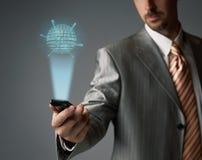 Teléfono celular de la pantalla táctil Foto de archivo libre de regalías