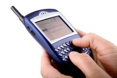 Teléfono celular de la zarzamora Imagen de archivo libre de regalías