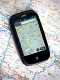 Teléfono celular del GPS fotografía de archivo