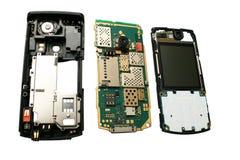 Teléfono celular desensamblado. Fotos de archivo libres de regalías