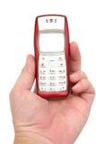 Teléfono celular a disposición foto de archivo libre de regalías