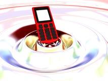 Teléfono celular en una onda Imagen de archivo libre de regalías