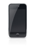 Teléfono celular negro de Smartphone Foto de archivo libre de regalías