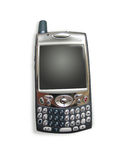Teléfono celular/PDA con los caminos de recortes Fotografía de archivo