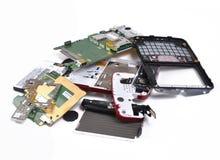 Teléfono celular quebrado Imagenes de archivo