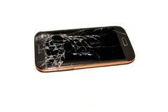 Teléfono celular quebrado Foto de archivo libre de regalías
