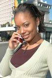 Teléfono celular rosado Foto de archivo libre de regalías