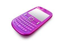 Teléfono celular rosado Imagen de archivo libre de regalías